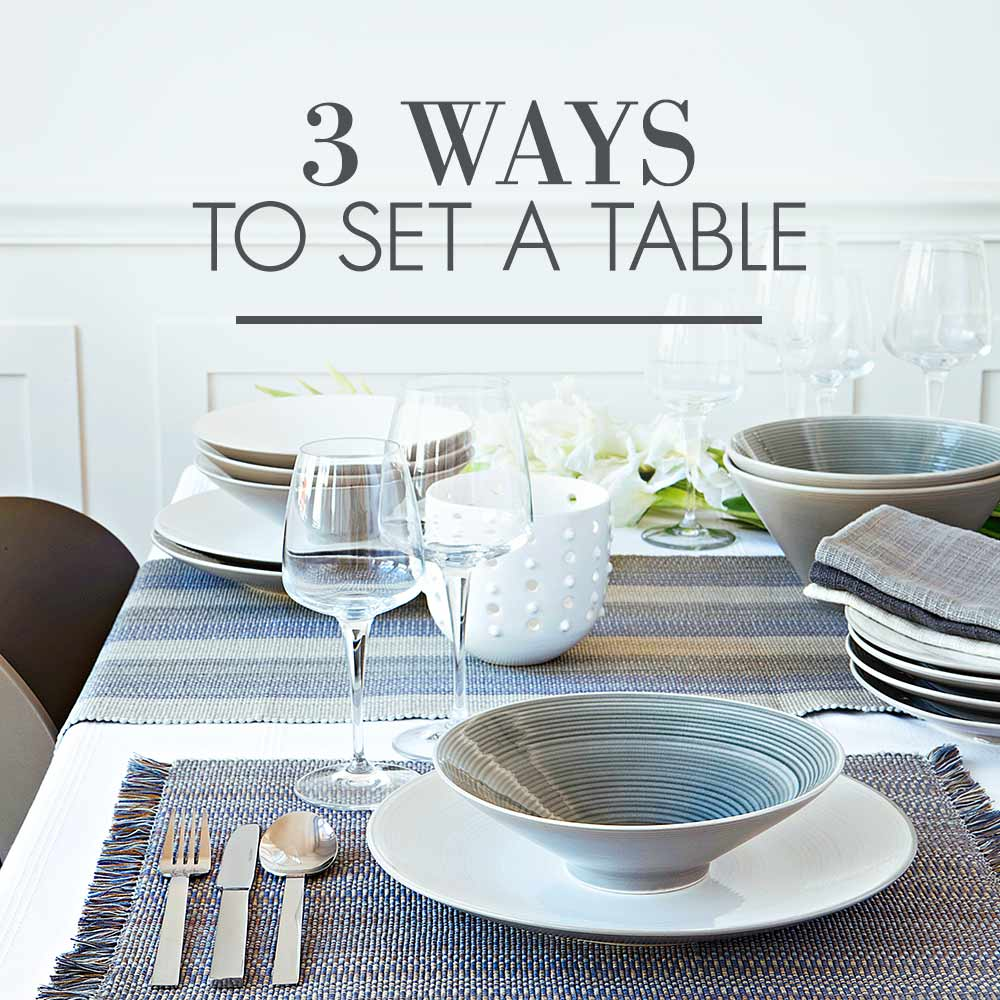Table Setting Guide  sc 1 st  Woolworths & 3 Ways to set a table | Woolworths.co.za