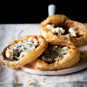 Sweet onion & goat's cheese tartlets | Woolworths.co.za