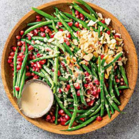 Green beans with a coconut and maple dressing | Woolworths.co.za