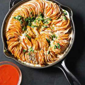 Sweet potato roast with sriracha coconut crème fraîche | Woolworths ...