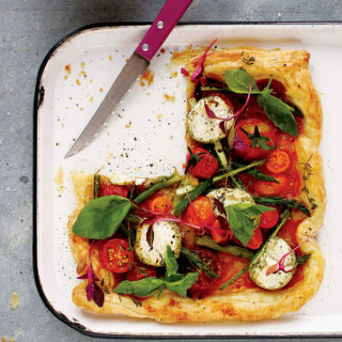 TOMATO AND ASPARAGUS TART