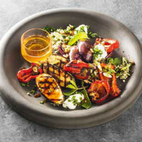 Honey and harissa grilled vegetable salad | Woolworths.co.za