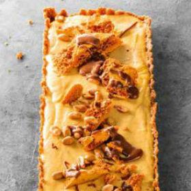 Peanut butter honeycomb tart | Woolworths.co.za