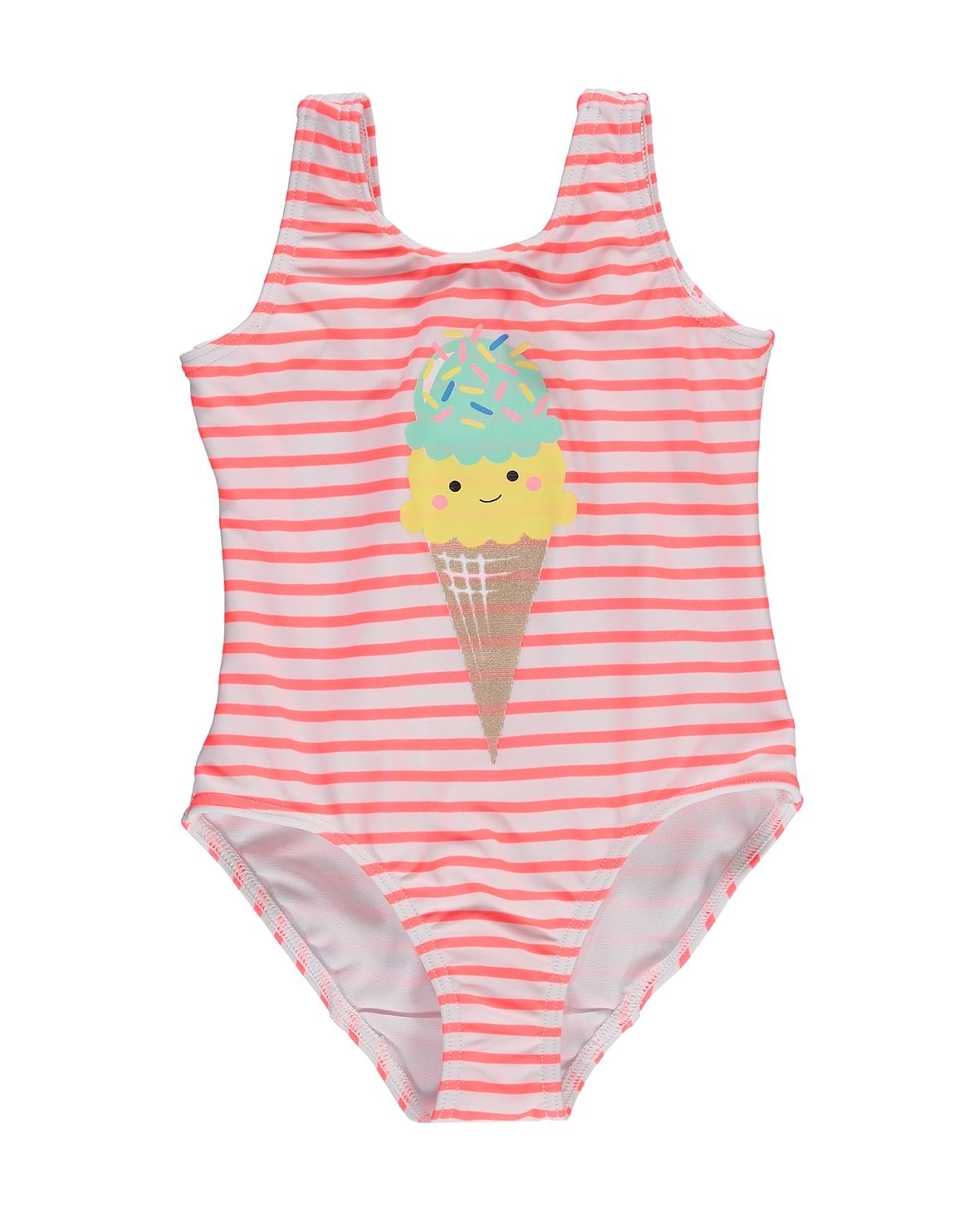 Ice-cream Striped Swimsuit