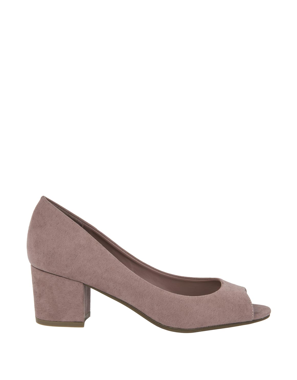 de067abe5cb6 Peep Toe Block Heel Court Shoes