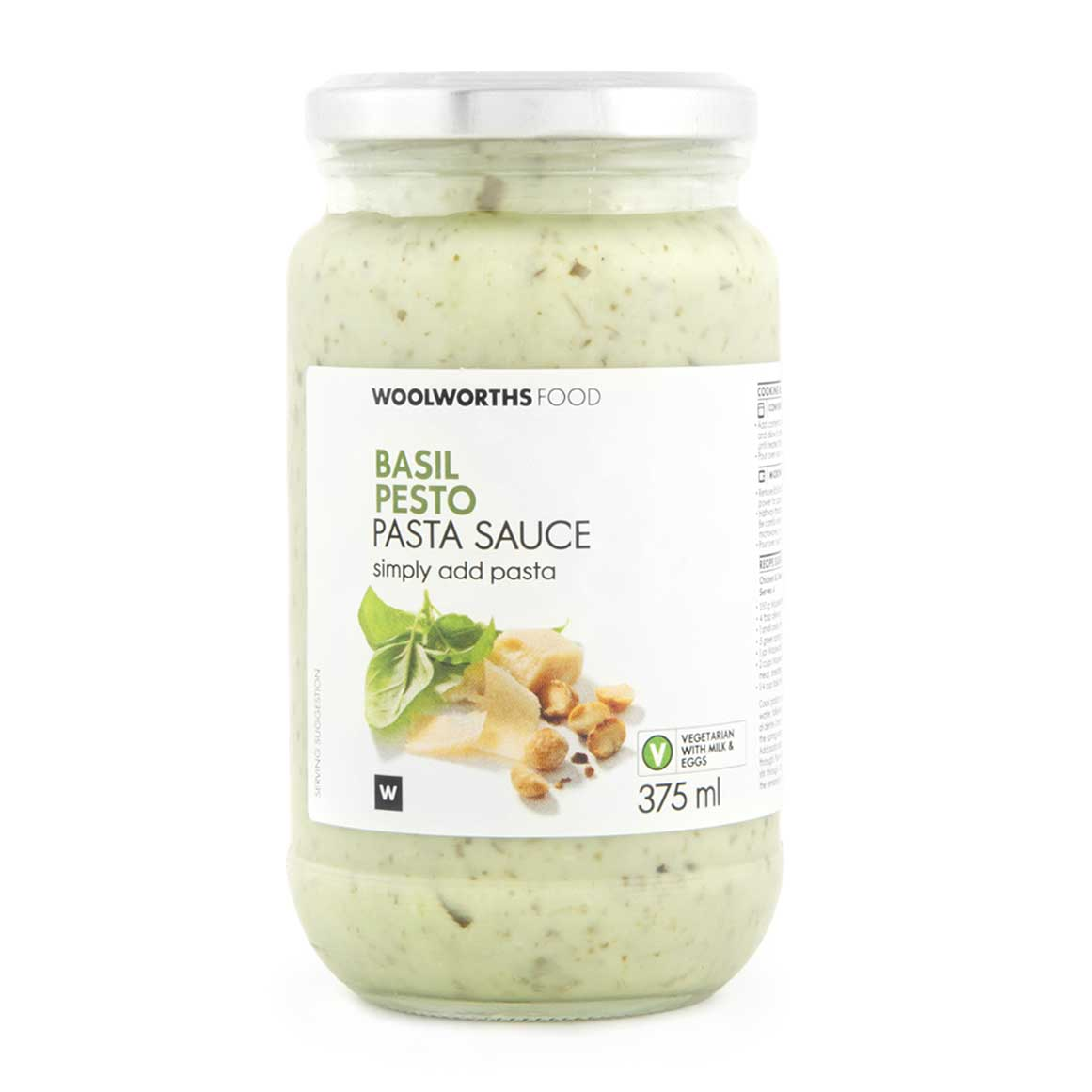 Basil Pesto Pasta Sauce 375ml Woolworths Co Za
