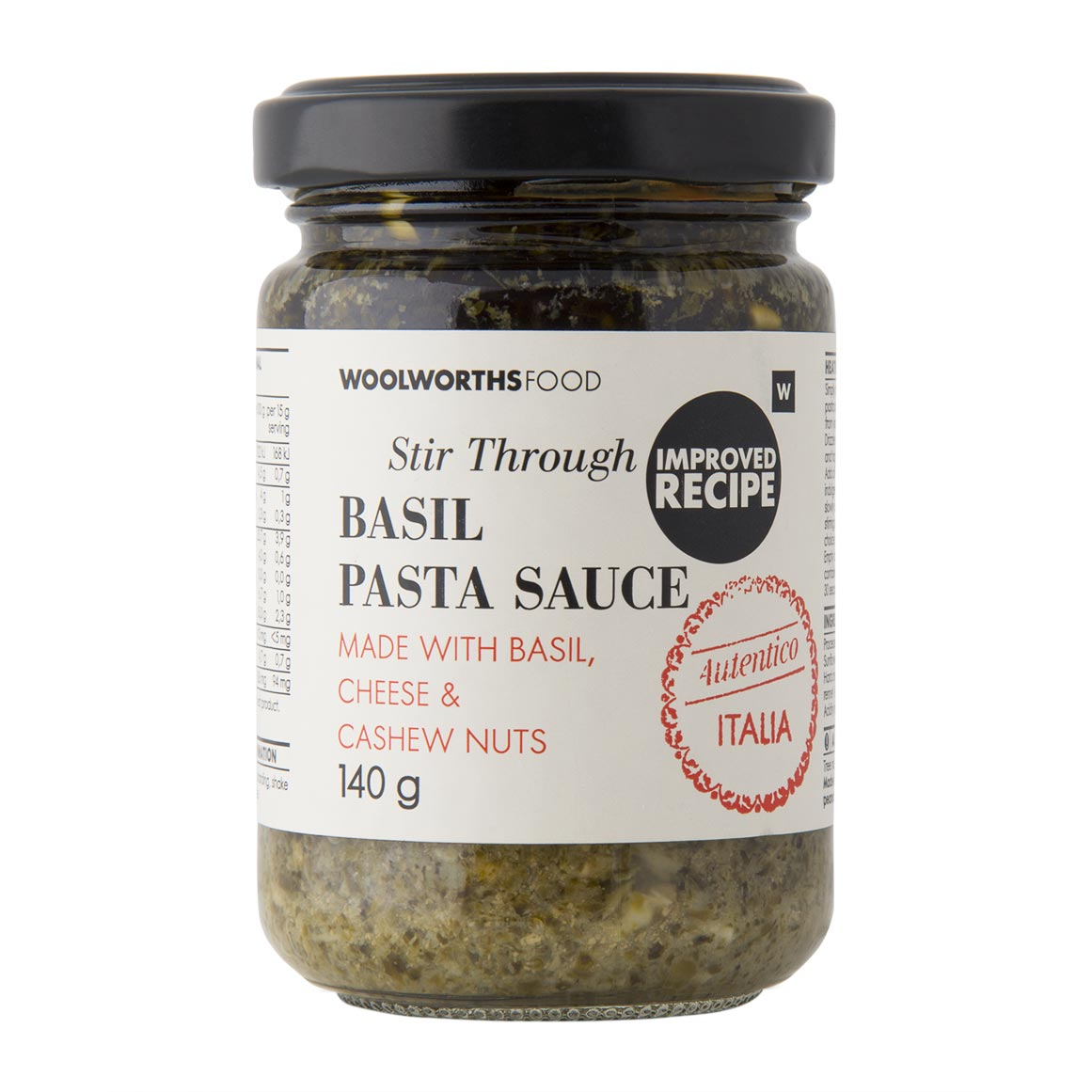 Basil Stir Through Pasta Sauce 140g Woolworths Co Za