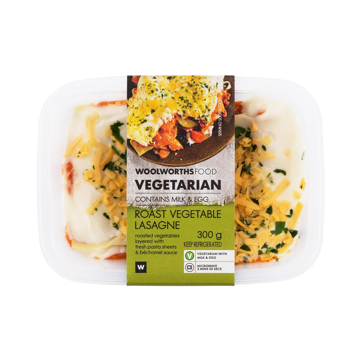 Vegetarian Roast Vegetable Lasagne 300g Woolworths Co Za