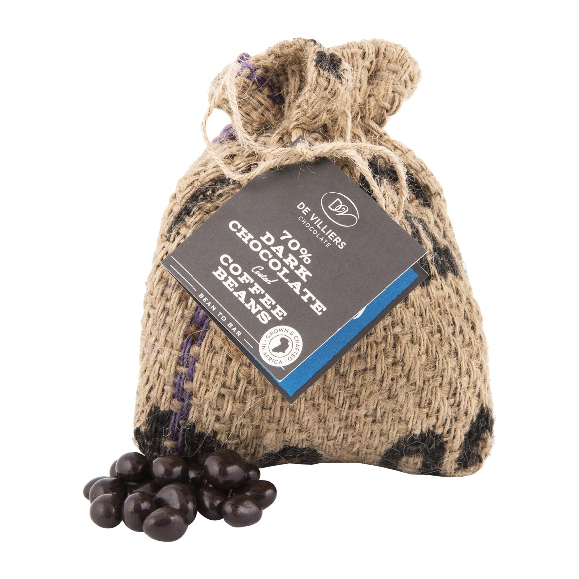 De Villiers 70 Dark Chocolate Coated Coffee Beans