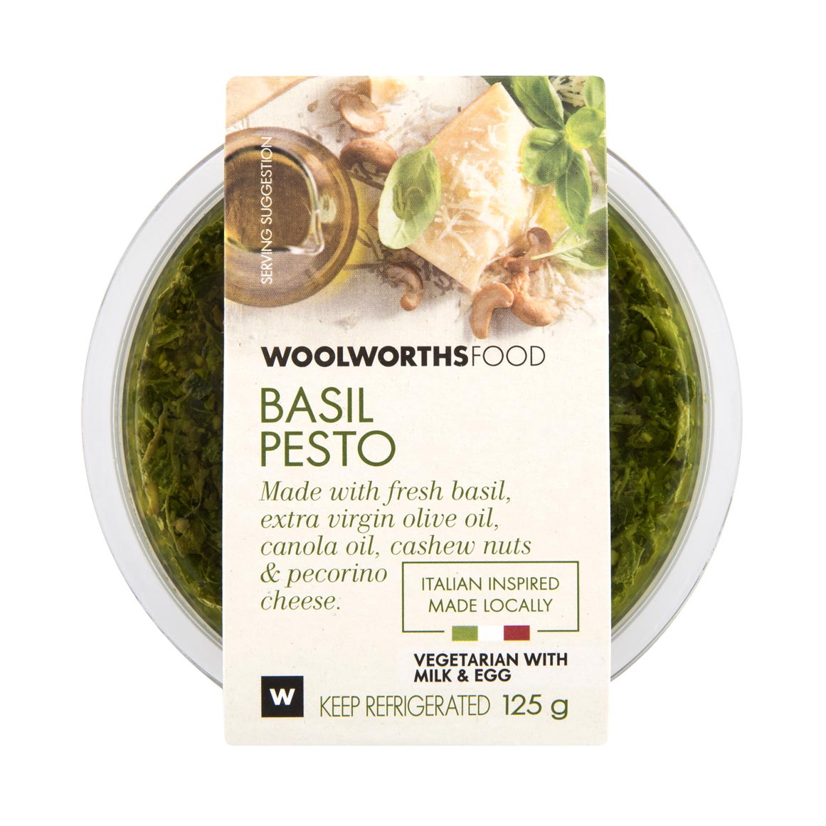 Basil Pesto Pasta With Mozzarella Woolworths Co Za