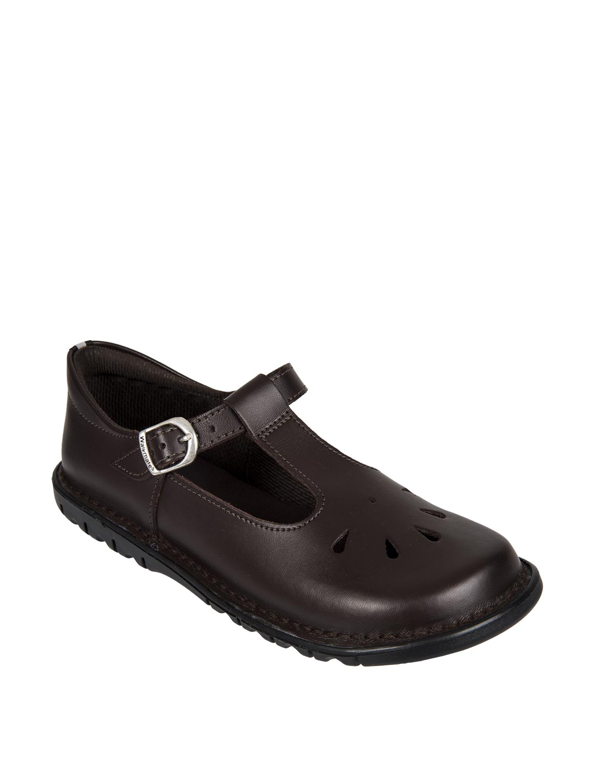 Leather T-Bar School Shoes (Size 2 - 8
