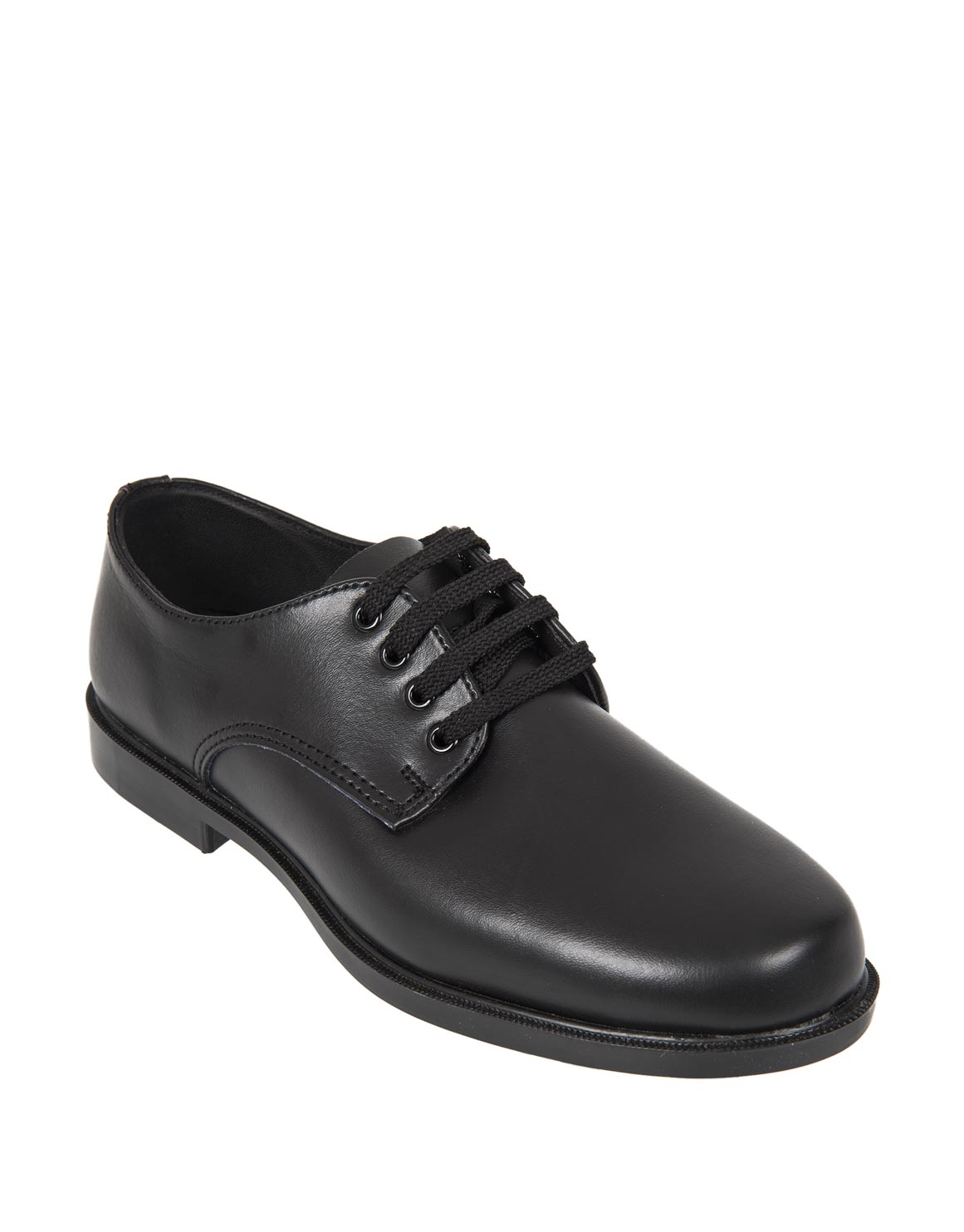 Eco Leather Lace-up School Shoes (Size