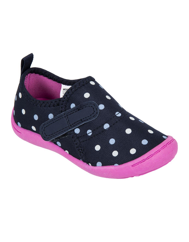 Polka Dot Aqua Socks (Size 4-13