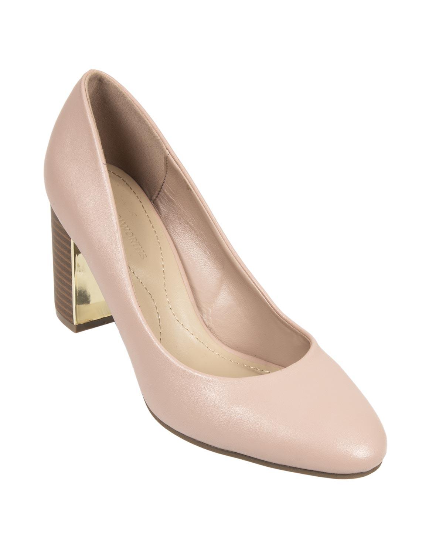 Dual Padding Block Heel Court Shoes