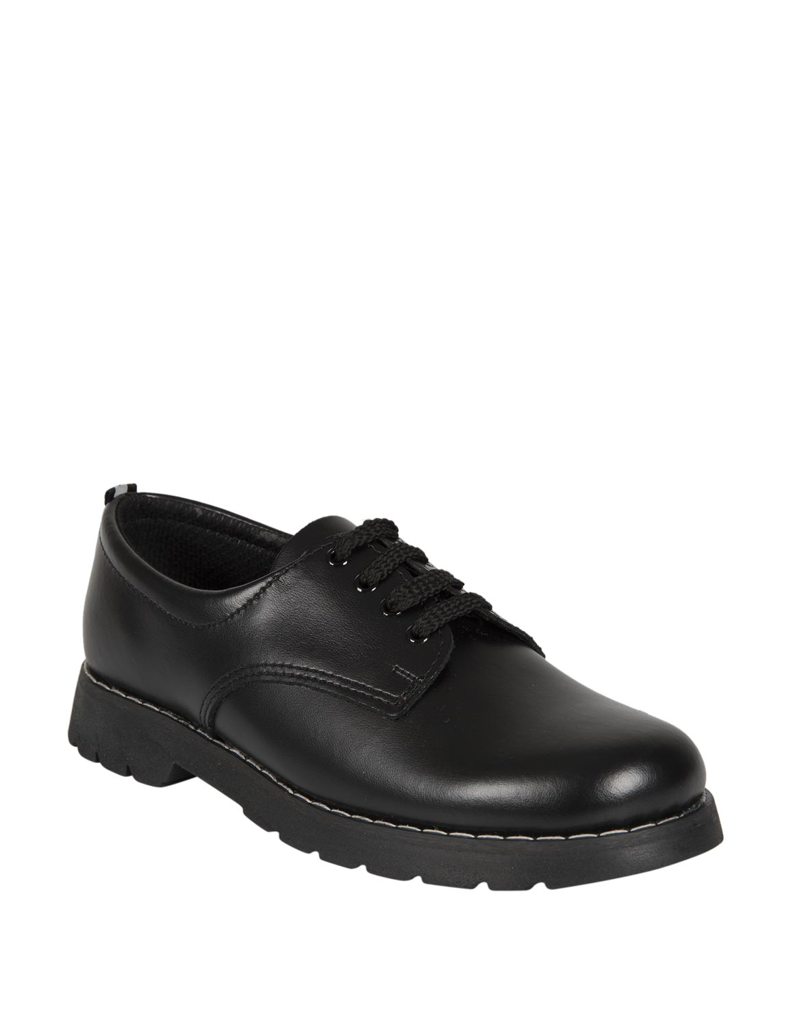 Lace-Up Leather School Shoes (Size 2