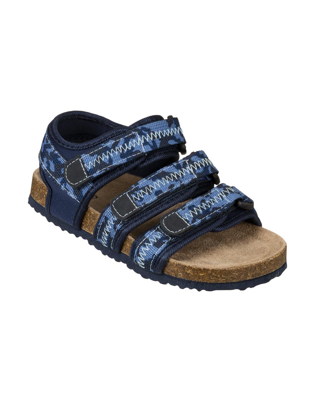 Triple Velcro Strap Cork Sandals (Size