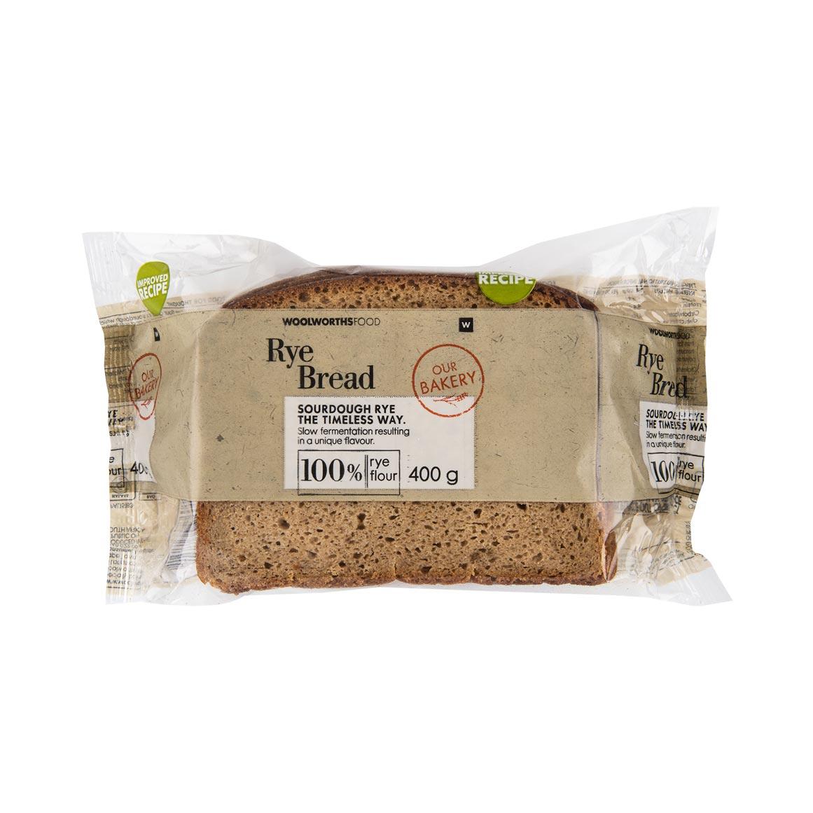100 Rye Bread 400g Woolworths Co Za